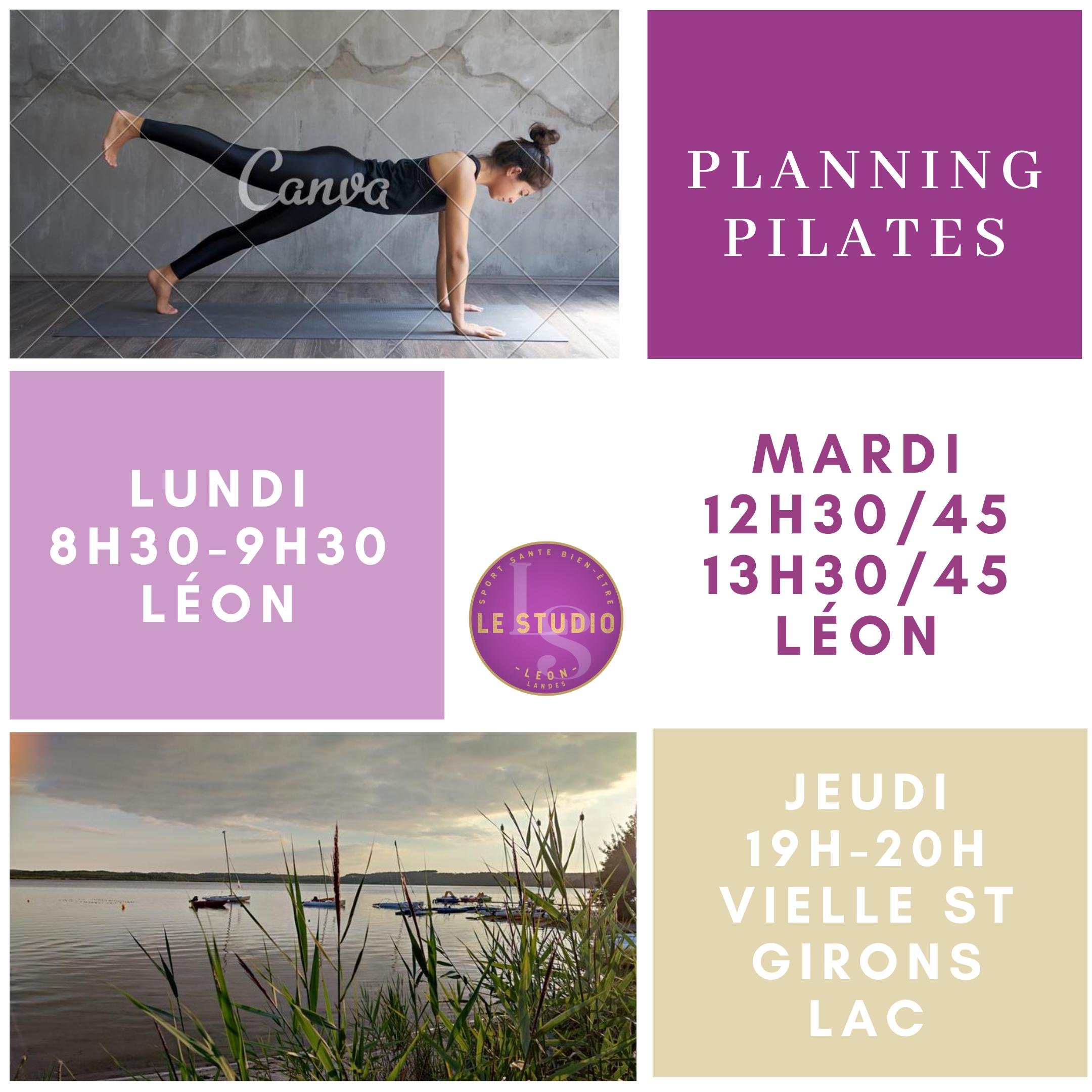 pilates planning ete 2020 a leon , vielle st girons cours de pilates