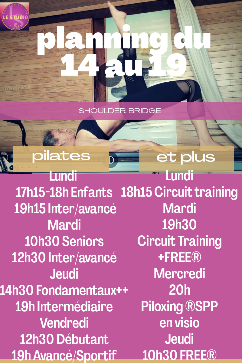 Pilates Circuit Training Free ...Le Planning de la semaine